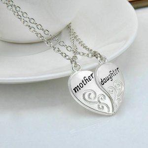 3/$30 2 Piece Mom Daughter Heart Pendant Necklace